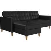 DHP Hartford Storage Sectional Futon with Chaise