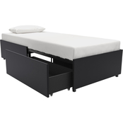 DHP Maven Faux Leather Upholstered Platform Bed with Storage