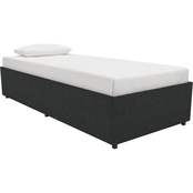 DHP Maven Linen Upholstered Platform Bed with Storage
