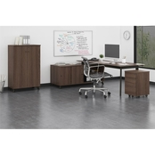 Ameriwood AX1 L-Shape Desk Mobile File and Storage Cabinet Bundle