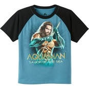 Marvel Little Boys Aquaman Savior Of The Sea Tee