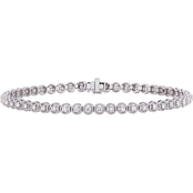 Diamore 14K White Gold 1 CTW Diamond Tennis Bracelet