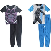 Marvel Little Boys Black Panther 4 pc. Pajama Set