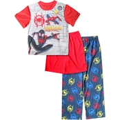 Marvel Little Boys Spider-Man 3 pc. Sleepwear Set