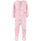 Carter's Infant Girls 1 pc. Footed Unicorn Pajamas