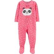 Carter's Infant Girls 1 pc. Panda Footed Pajamas