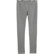 Carter's Little Girls Striped Mini Heart Leggings