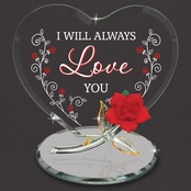 Glass Baron I Will Always Love You Heart Decor