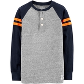 OshKosh B'gosh Little Boys Varsity Stripe Henley Tee