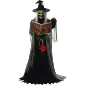 Morris Costumes Spell Speaking Witch Animated Prop