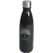 Pure Drinkware Patriotic Never Accept Defeat Black 17 oz. Bottle