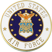 Mitchell Proffitt U.S. Air Force Crest Lapel Pin