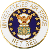 Mitchell Proffitt U.S. Air Force Retired Lapel Pin