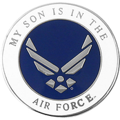 Mitchell Proffitt My Son is in the Air Force Symbol Lapel Pin
