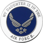 Mitchell Proffitt My Daughter is in the Air Force Symbol Lapel Pin