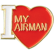 Mitchell Proffitt I Love My Airman Lapel Pin