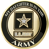 Mitchell Proffitt My Daughter is in the Army Lapel Pin