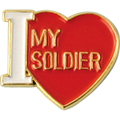 Mitchell Proffitt I Love My Soldier Lapel Pin