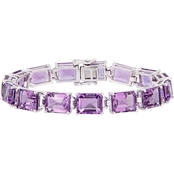Sofia B. Sterling Silver and Amethyst Tennis Bracelet