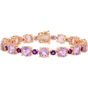 Sofia B. Rose Gold Over Sterling Silver and Amethyst Tennis Bracelet