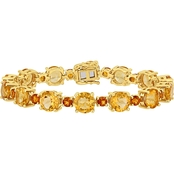 Sofia B. Citrine and Madeira Citrine Tennis Bracelet in Yellow Plated Silver
