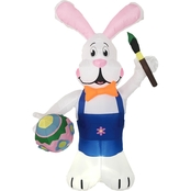 Morris Costumes 7 ft. Inflatable Bunny with Eggs Paint Pen