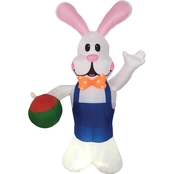 Morris Costumes 7 ft. Inflate Bunny with Egg Hand
