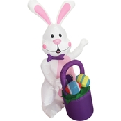 Morris Costumes 4 ft. Inflatable Bunny with Basket Egg
