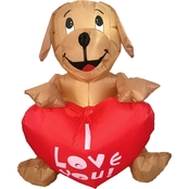 Morris Costumes 4 ft. Inflatable Dog with LED Heart