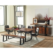 Scott Living Jamestown Rustic Live Edge Dining Table