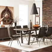 Scott Living Hutchinson Modern Live Edge Dining Table