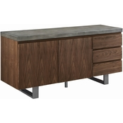 Scott Living Hutchinson Modern Server with Composite Concrete Top