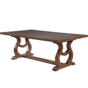 Scott Living Glen Cove Traditional Trestle Table