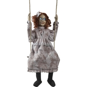 Morris Costumes Swinging Animated Decrepit Doll