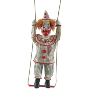 Morris Costumes Swinging Animated Clown Doll