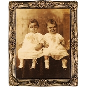 Morris Costumes Twins 17 x 21 in. Holograph Portrait