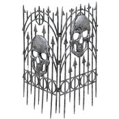 Forum Novelties Silver Skull Fence