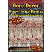 Forum Novelties Bloody Tile Wall Roll Decoration