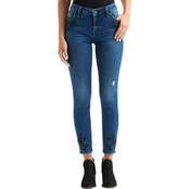 Lucky Brand Lolita Embroidered Slit Skinny Jeans
