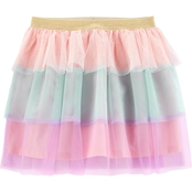 Carter's Girls Rainbow Tulle Tutu Skirt, Size 7