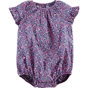 OshKosh B'gosh Infant Girls Ruffle Sleeve Floral Bodysuit