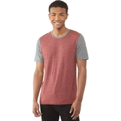 Unzipped Textured Colorblocked Tee
