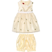 Princess Faith Infant Girls Flower Embroidered Dress