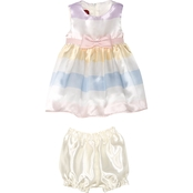 Princess Faith Infant Girls Striped Dress with Bow