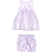 Princess Faith Infant Girls Shadow Stripe Dress