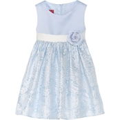Princess Faith Toddler Girls Brocade Skirt Dress