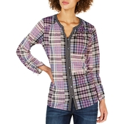Style & Co. Plaid Split Neck Shirt