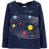 Carter's Toddler Girls World Space Graphic Tee