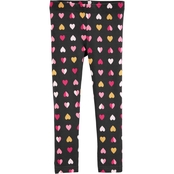 Carter's Toddler Girls Hearts Leggings