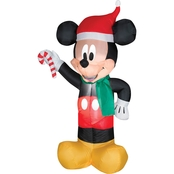 Airblown Mickey Santa with Candy Cane